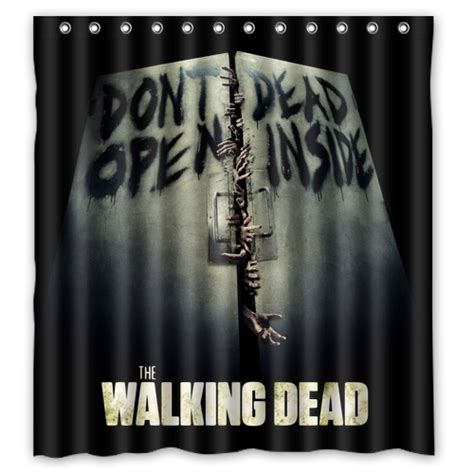 The Walking Dead Shower Curtain Mycasescovers