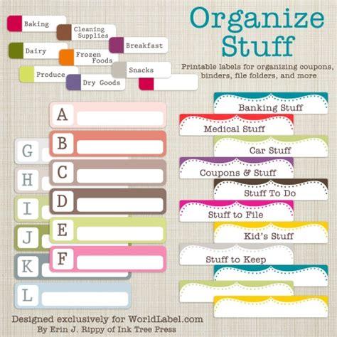 office  organizing label templates