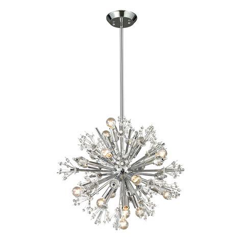 elk lighting 11750 15 starburst 15 light small chandelier