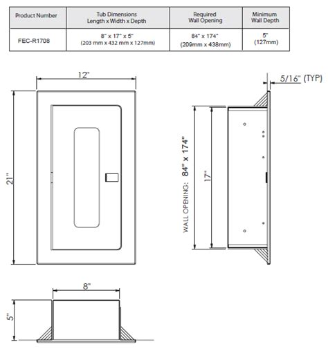 recessed extinguisher cabinet dimensions hose cabinets marfab metal products inc