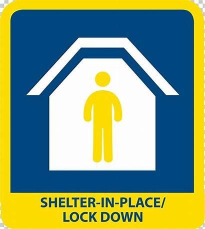 Shelter Place Emergency Lockdown Symbol Management Building
