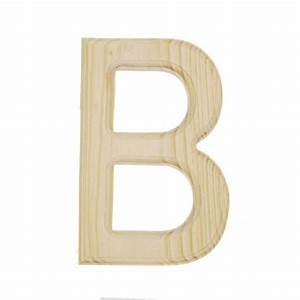 6quot natural unfinished wood cutout letter b With wooden letter b