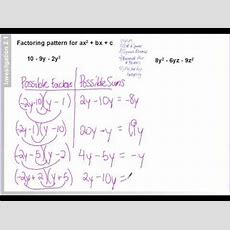 59 Factoring Patterns For Ax^2 + Bx + C Examples Composite Numbers Youtube