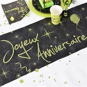 Chemin De Table Anniversaire : chemin de table anniversaire vert drag es anahita ~ Melissatoandfro.com Idées de Décoration