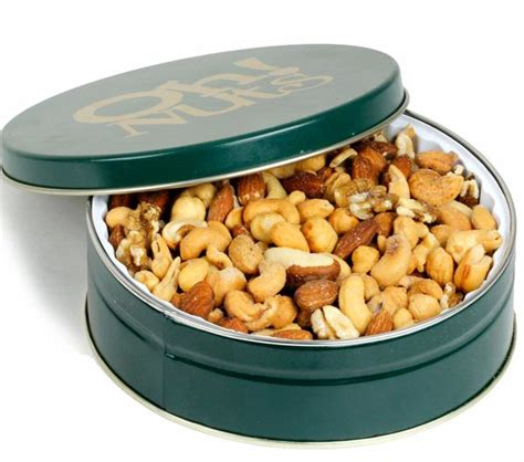 holiday roasted mixed nuts gift tin holiday nut gift baskets christmas gifts oh nuts 174