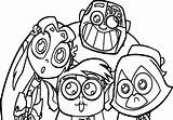 Titans Coloring Teen Pages Go sketch template