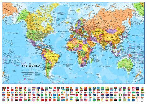large world map maps international world wall map
