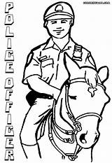 Police Officer Coloring Pages Horse Policeofficer Print sketch template