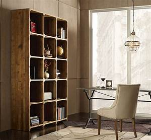 Hughes, Rustic, Reclaimed, Wood, Open, Bookcase