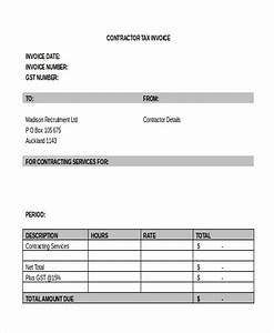 Sample Independent Contractor Invoice Free 8 Sample Contractor Invoice Forms In Pdf Word