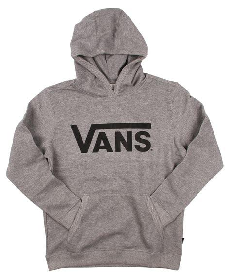 vans classic pullover kids hoodie cement heatherblack