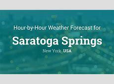 Hourly forecast for Saratoga Springs, New York, USA