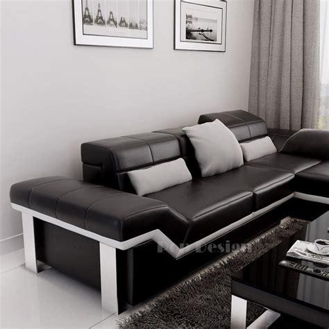 canape en promo canapé d 39 angle design en cuir torino pouf pop design fr