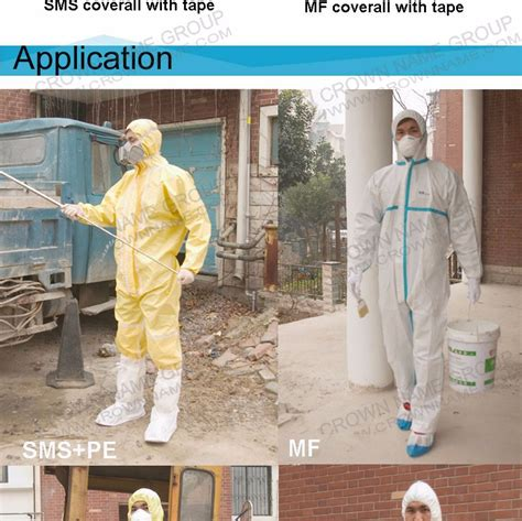 protective disposable coverall microporous film laminated