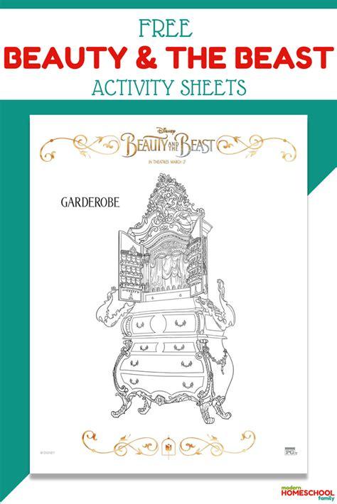 beauty   beast activity sheets modern