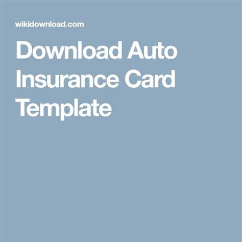 auto insurance card template car insurance