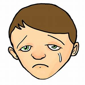 Cartoon Boy Sad Face Drawing - Drawing Of Sketch