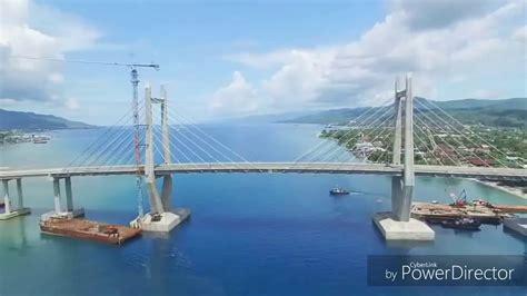 not jembatan merah jmp jembatan merah putih ambon maluku indonesia footage