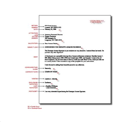 business letter format spacing   write professional lett