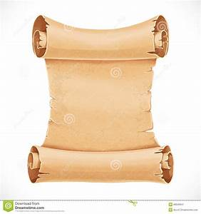Big Scroll Of Parchment For Your Design Stock Vector ...