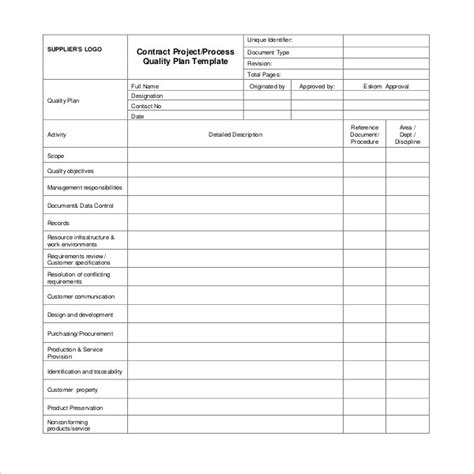 project plan templates word  docs
