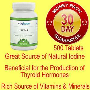 Kelp Natural Source of Iodine for Thyroid Support Vitamins ...
