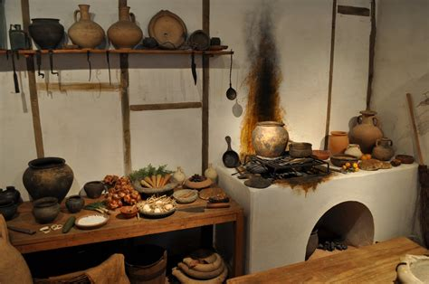 cuisine romaine antique reconstruction of a kitchen at the museum of