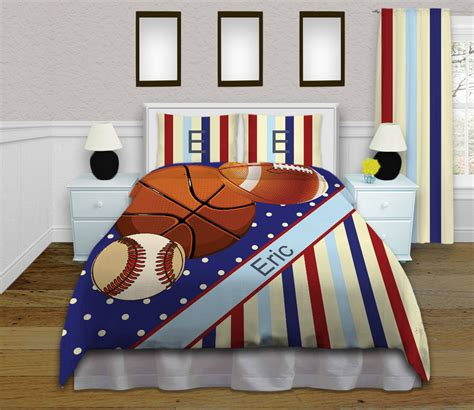 kid bedding sets sport themed boys duvet cover comforter set with