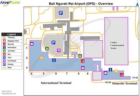 denpasar bali airport terminal map