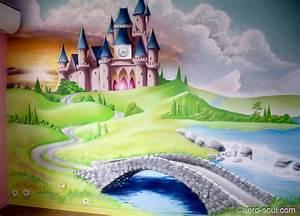 Deco Chambre Fille Princesse : chateau princesse ~ Teatrodelosmanantiales.com Idées de Décoration