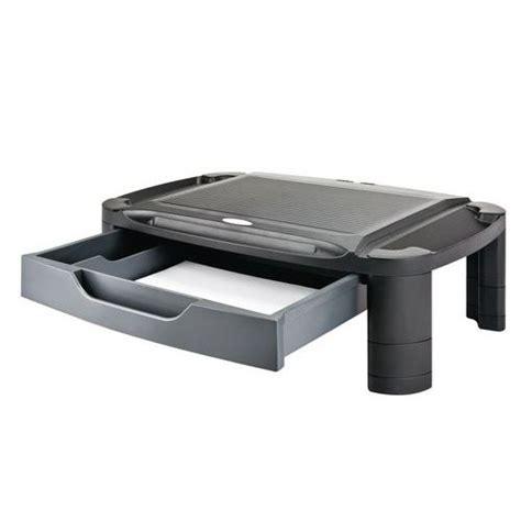 support moniteur bureau support pour moniteur avec tiroir desq manutan fr