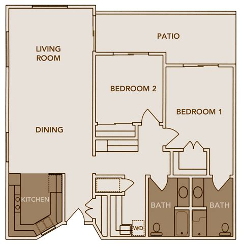 2 bed 2 bath floor plans floor plans inland christian home a multi level senior