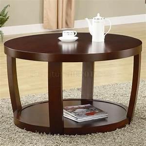 Rich cherry finish modern coffee table w optional end table for Modern cherry coffee table
