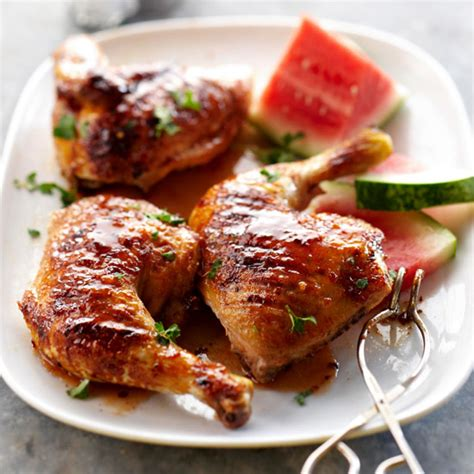 watermelon glaze grilled chicken with watermelon glaze
