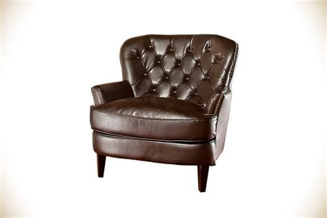 abbyson living misha tufted fabric accent chair in antique