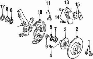 1995 Ford Aspire Stud  Wheel Nut  Front  Brake  Suspension  Components