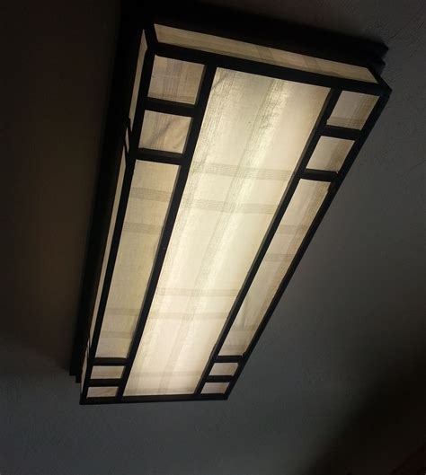 Custom Made Lamp Shade, 4ft Fluorescent Lamp Shade by Tree