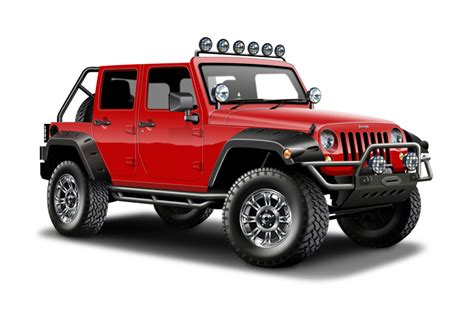 red jeep clipart david swang illustration