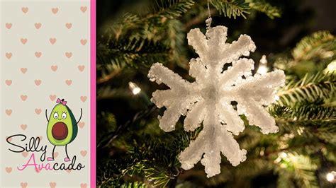 crystal snowflake ornament  borax kid