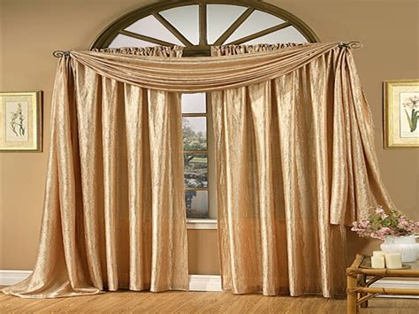 Curtains : Window Treatments With Scarves, Gold Satin Curtains Scarf
