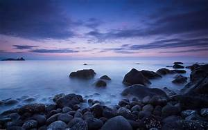 Italy, Aci, Catena, Sea, Coast, With, Rocks, Calm, Sea, Dark