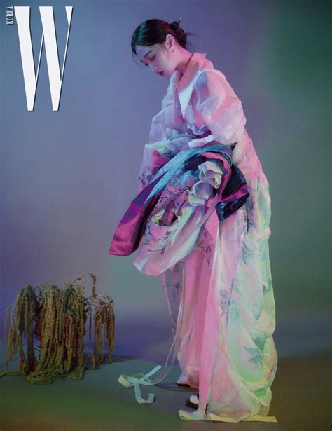 sulli models colorful beautiful hanboks  photoshoot