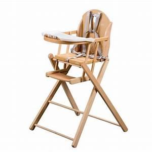 Chaise Haute Bébé Bois : tineo chaise haute pliante bois vernis naturel vernis ~ Melissatoandfro.com Idées de Décoration