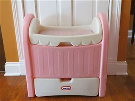 tikes doll bed vintage tikes pink doll size crib changing table