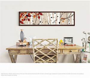 wholesale the white birch forest decorative picture on With horizontal wall art