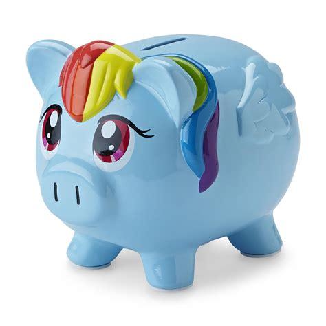 pony ceramic piggy bank rainbow dash