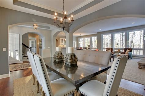 open floor plan discover crossing model home transitional dining room minneapolis