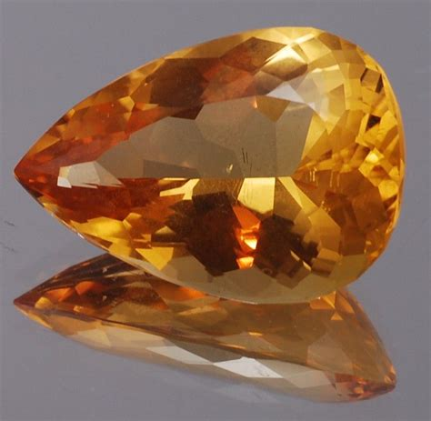 Imperial Topaz 12 23ct pear shaped imperial topaz aaa 19 0x13 6 mm