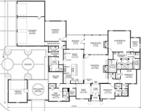 french country style house plans  square foot home  story  bedroom    bath
