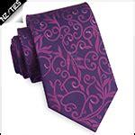 mens dark purple plain skinny tie nz ties